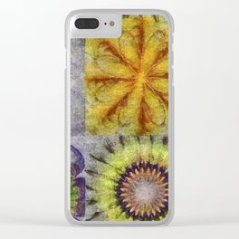Mudcapped Feeling Flower  ID:16165-015150-26640 Clear iPhone Case