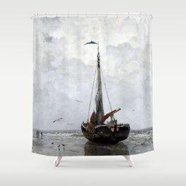 Jacob Maris Fishing boat Shower Curtain