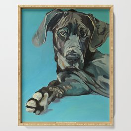 Great Dane Dog Portrait Serving Tray