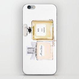 2 lovely perfume, fashion & love iPhone Skin