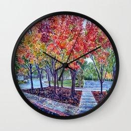 Late Autumn in Northern California Wall Clock
