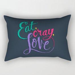 Eat, Cray, Love Rectangular Pillow