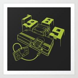 TurboGrafx-16 Line Art Console Art Print