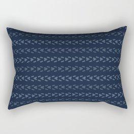 Abstract Indigo Blue Dye Lines Rectangular Pillow