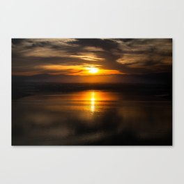 Golden glow over Black Butte Lake Canvas Print