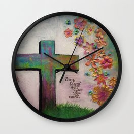 The Cross in Spring Wall Clock