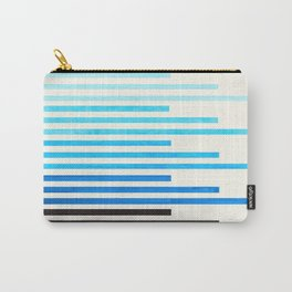 cerulean blue watercolor gouache painting minimalist geometric stripe pattern Carry-All Pouch