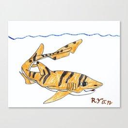 Tiger Cat Shark Canvas Print