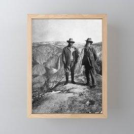 Teddy Roosevelt and John Muir - Glacier Point Yosemite Valley - 1903 Framed Mini Art Print