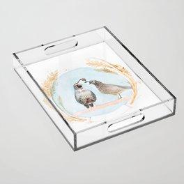 Wedding Quail Acrylic Tray