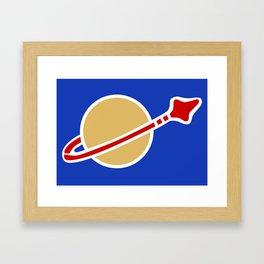 1980s Classic Lego Spaceman Framed Art Print