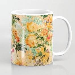 Vintage & Shabby Chic -  Sunny Gold Botanical Flowers Summer Day Coffee Mug
