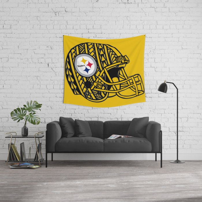 Polynesian style Steelers Wall Tapestry by ...