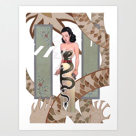 Dragon Lady Art Print