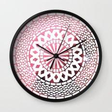 Nebula Snake Mandala Wall Clock