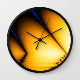 Abstraction in blue and orange Wall Clock