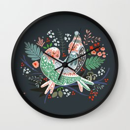 Holiday Birds Love Wall Clock