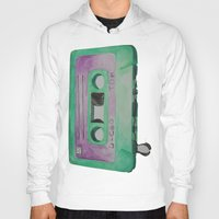 cassette Hoodies featuring Cassette by TrishRay