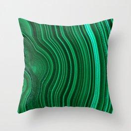 Malachite no. 2 Throw Pillow