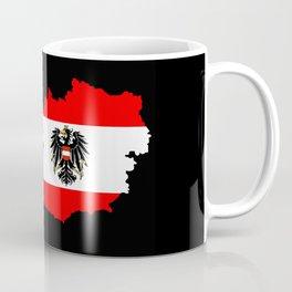 Austrian Flag and Map Coffee Mug