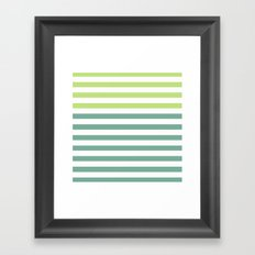 JADE STRIPES Framed Art Print