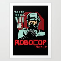 robocop Art Prints featuring Robocop  by Buby87
