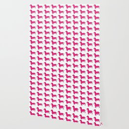 Doxie Love - Pink Wallpaper