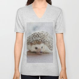Cute Hedgehog Unisex V-Neck