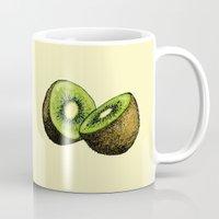 kiwi Mugs featuring Kiwi by Sara Soto