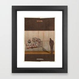 08_Archiwall_louis kahn Framed Art Print