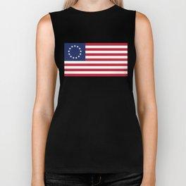 Betsy Ross USA flag - High Quality Image Biker Tank