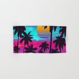 Gorgeous Crimson Sunset Synthwave Hand & Bath Towel