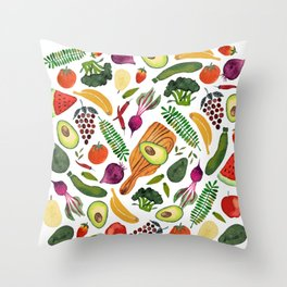 eat clean Throw Pillow