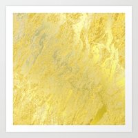 gold foil Art Prints featuring Gold Foil by Sweet Karalina