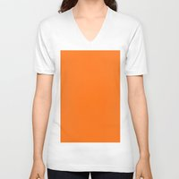 pumpkin V-neck T-shirts featuring Pumpkin by List of colors