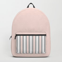 Simple Pink and White Stripes Backpack
