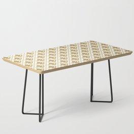 Gold Fleur-de-Lis Pattern Coffee Table