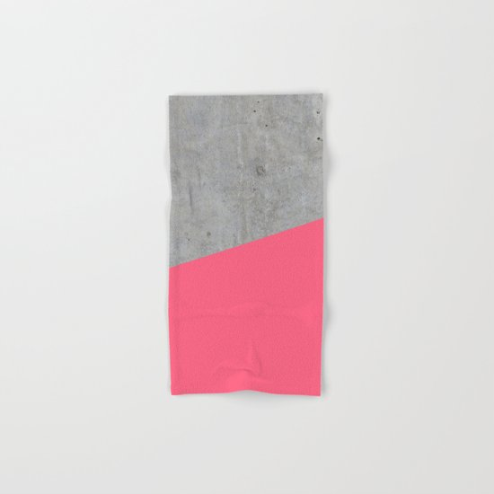 Concrete and pink Hand & Bath Towel