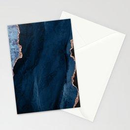 Beautiful Rose Gold Desert Design Pattern Stationery Cards