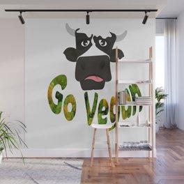 GO VEGAN Wall Mural