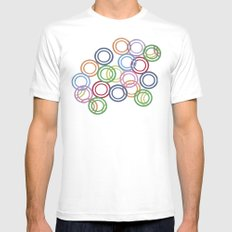 Discs White MEDIUM Mens Fitted Tee