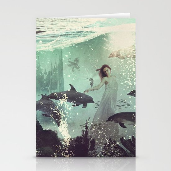 The Sea Unicorn Lady Stationery Cards
