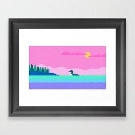 Common Loon Passamaquoddy Bay, Eastport, Maine Framed Art Print