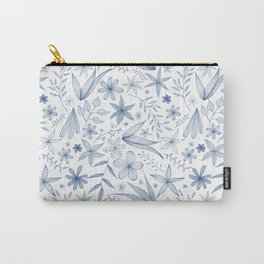 blue botanical pattern Carry-All Pouch