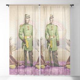 General Simian of the Glorious Banana Republic Sheer Curtain