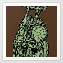 MOTORCYCLE HEADLIGHT Art Print