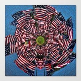 US Flags Canvas Print