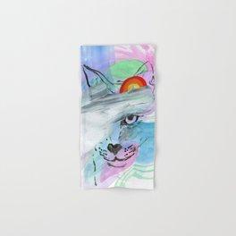 Coy Cat with Rainbow Hand & Bath Towel