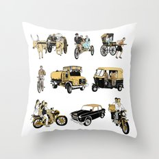 Indian Transportation Throw Pillow