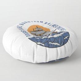 Good sailor born from bad weathers, marine gift. Floor Pillow